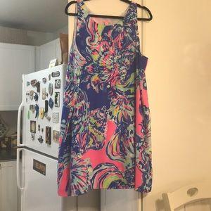 Lilly pulitzer Jackie shift silk dress size XL